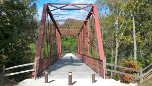 This old bridge over Big Walnut Creek that was saved and restored and brought to McCloud from northern Indiana allows hikers to get to some of the most scenic parts of the park.