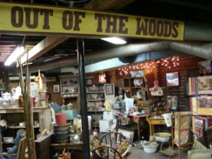 Out of the Woods section in the basement of the Mooresville Open Market