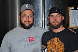 Cutters Brewing Company owner Monte Speicher (left) and head brewer Dustin Brown (right) know how to make some hard working beer.