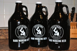 A growler (or three) of Cutters beer -- the perfect Christmas present.