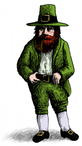 An artist's rendition of Ellis O'Leary, the Danville Leprechaun.
