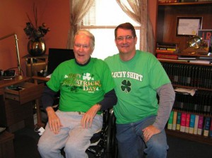 Glenn (of Savor Thyme) with his dad, Ed. (Both very proud of their Irish heritage.)