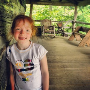 My daughter, Madelyn at the Outdoor Learning Center