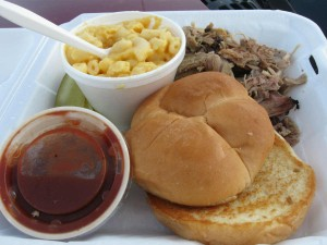 Pulled pork barbecue at Pit Stop BBQ
