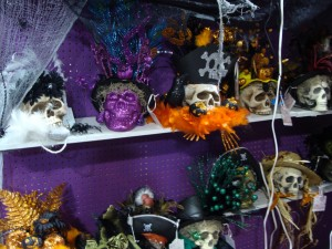 A Halloween booth at Gizmo's.