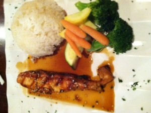 Teriyaki Salmon at Tegry Bistro