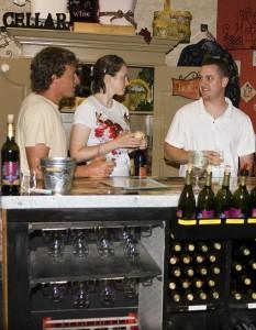 Wine tasting at Chateau Thomas Winery