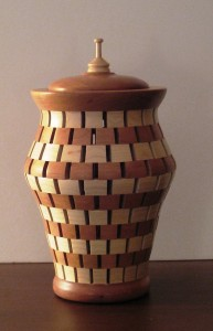 Cherry and maple potpourri jar from Avon Wood Turnings