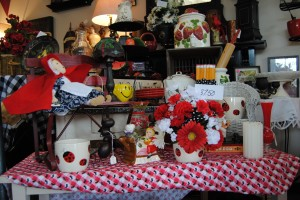 You will find antiques, re-purposed and unique gift items at Flowers and Treasures.
