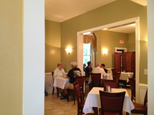 Savor Thyme has beautiful, quiet indoor seating as well.
