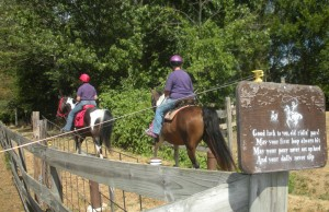 Horseback riders on the Vandalia Trail near Amo.