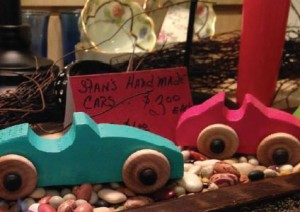 Kids will love these wooden toys at Red Horse Livery.