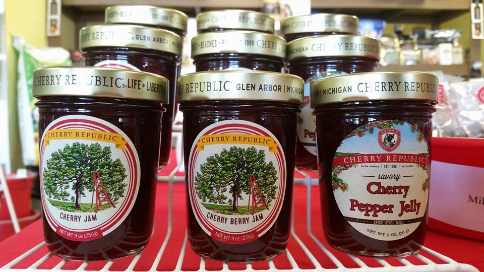 You can find Michigan's Cherry Republic cherry jam and other products at Big Tuck's Feed & More in Pittsboro, Indiana.