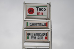 J's Taco Inn is located on Highway 39 in Lizton, Indiana, just south of I-74 and Highway 136.
