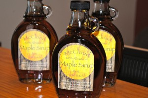 Maple Sirup made with McCloud Nature Park maple sap is available for $12 a bottle at the Nature Center.