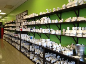 uPaint offers a great selection of pottery pieces to chose from.