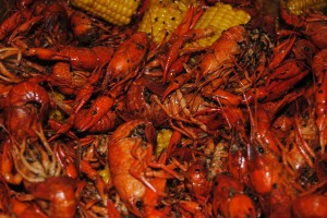 Crawfish waiting to be served.