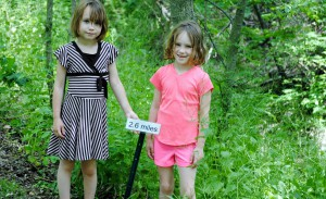 My daughters loved the new trail markers on the Vandalia Trail that told them how far they had walked.
