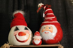 These holiday gourds are so fun and are one of the gifts featured on Visit Hendricks County's holiday gift guide.