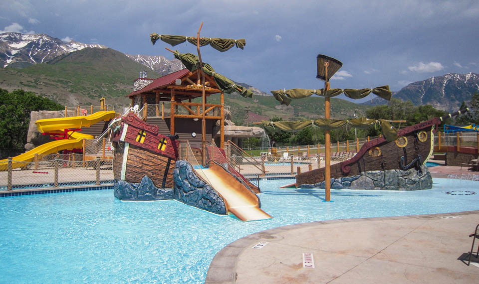 The water playground at the Lindon Aquatic Center