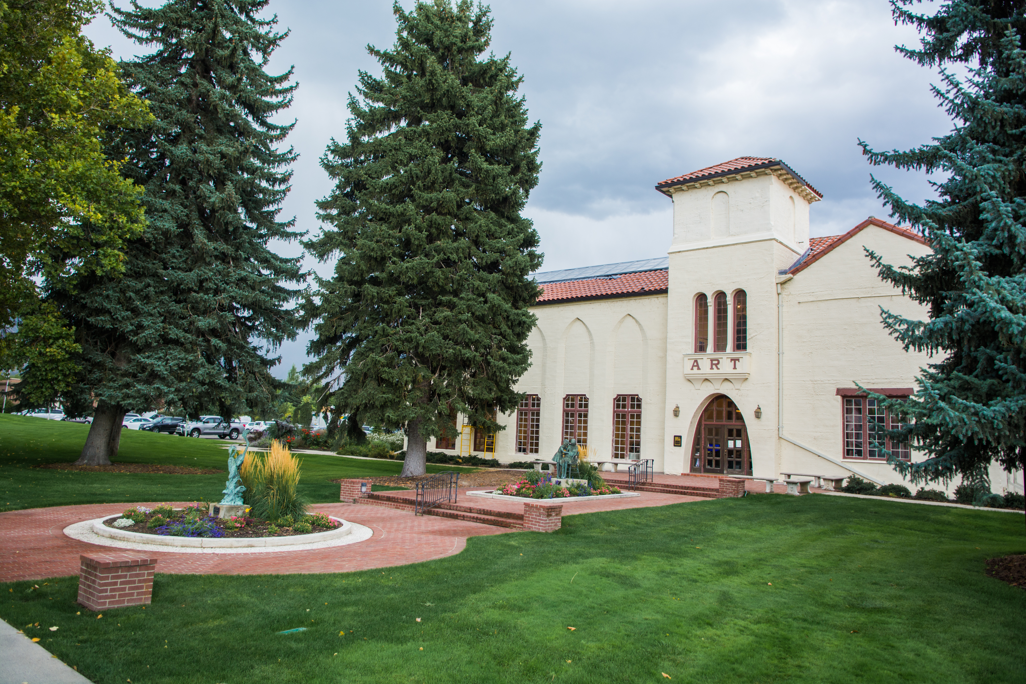 The exterior of the Springville Museum of Art