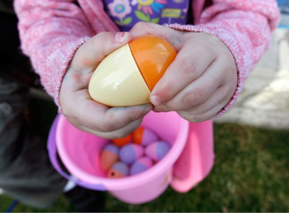 Girl holding an Easter egg