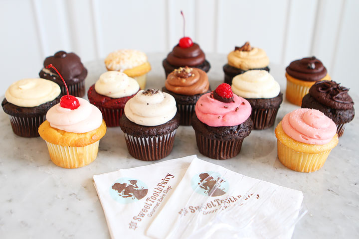 A variety of cupcakes from the Sweet Tooth Fairy