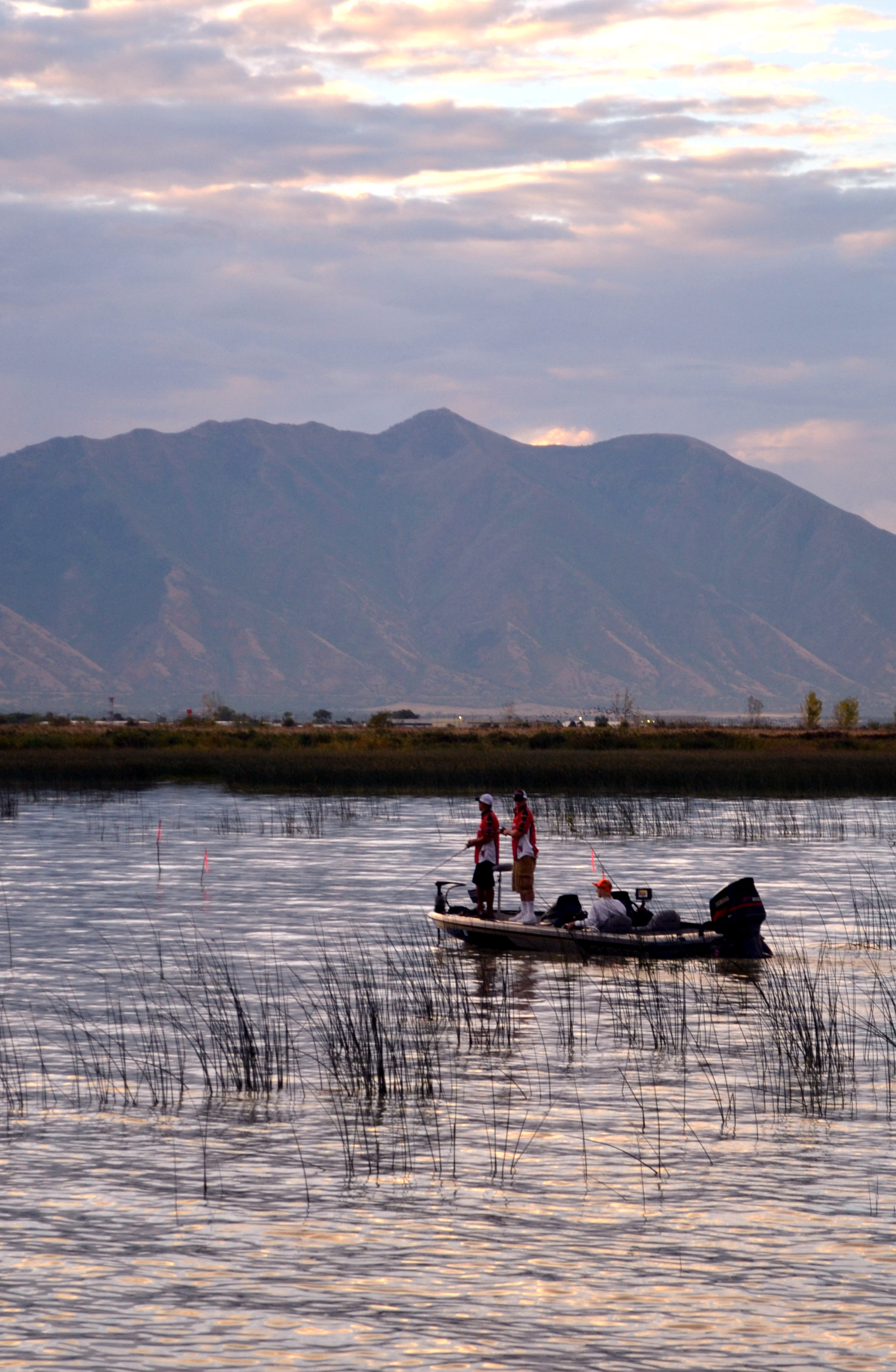 A fishing boat on Utah Lake