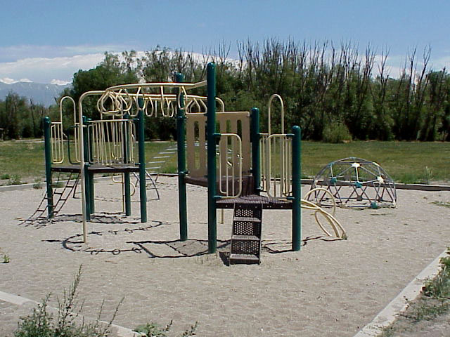 A playground at a park
