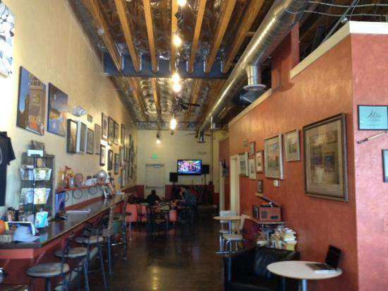 The interior of Art City Coffee