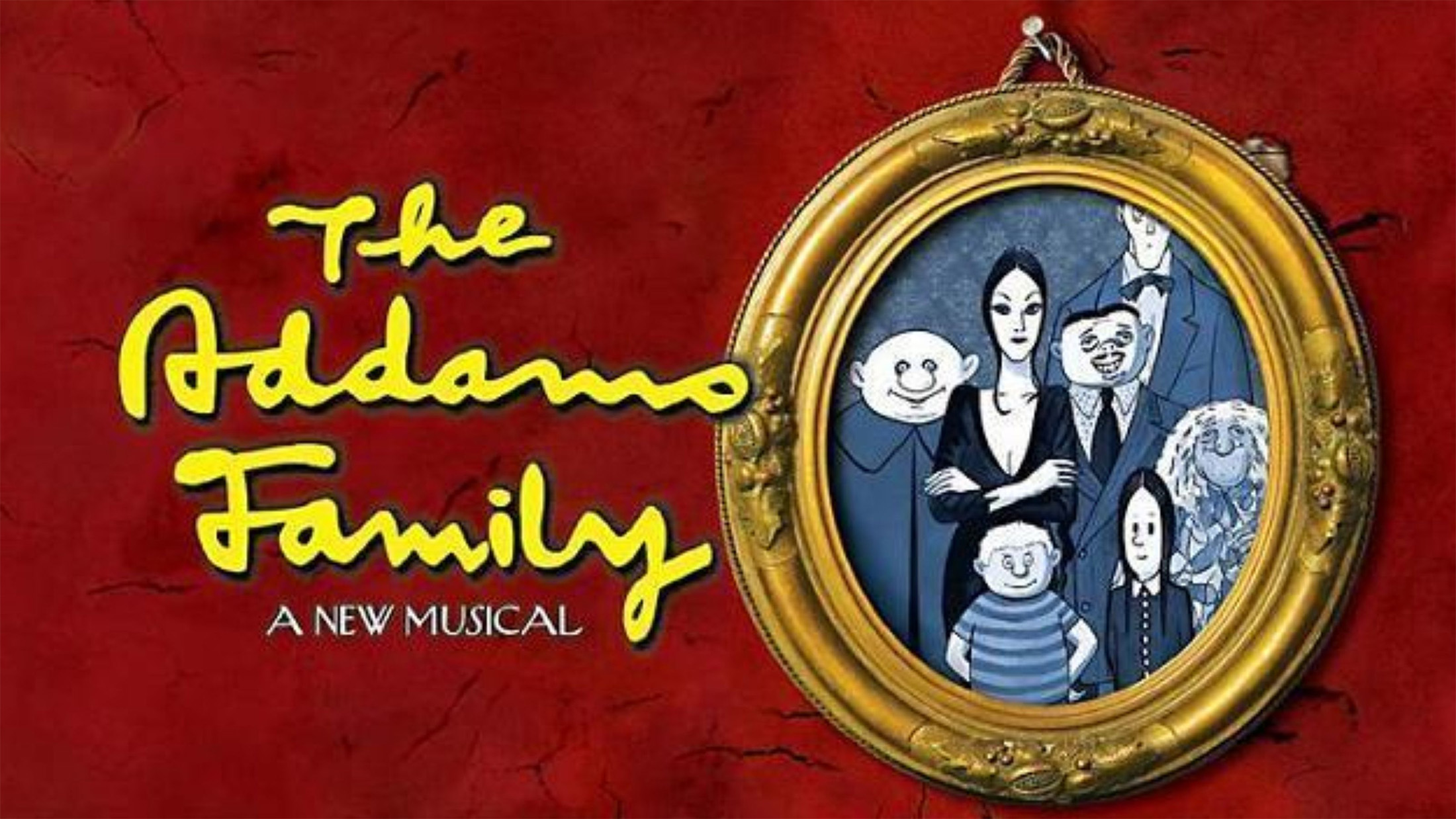 The show poster for the Addams Family Musical