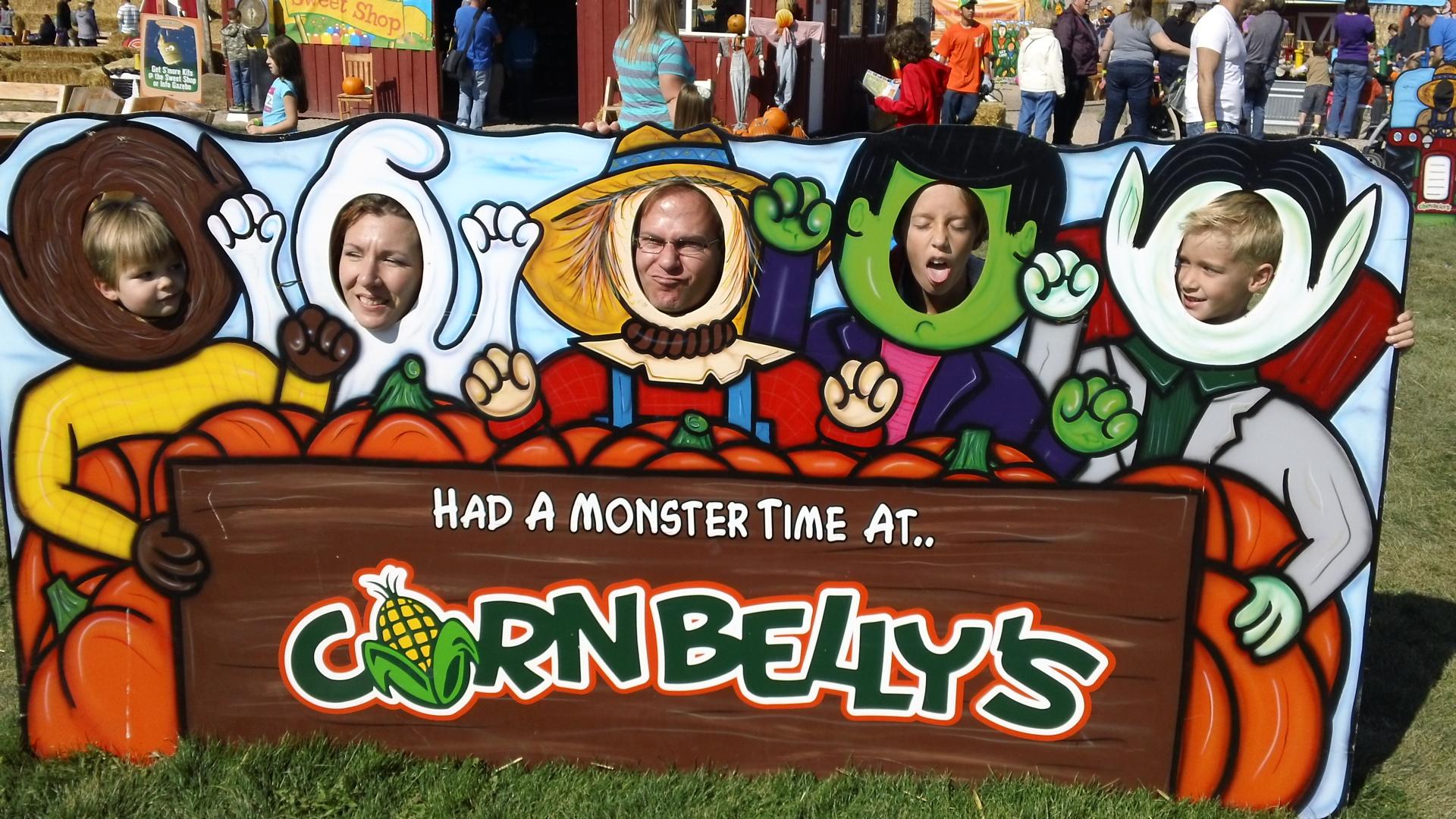 A family at Cornbelly's Corn Maze