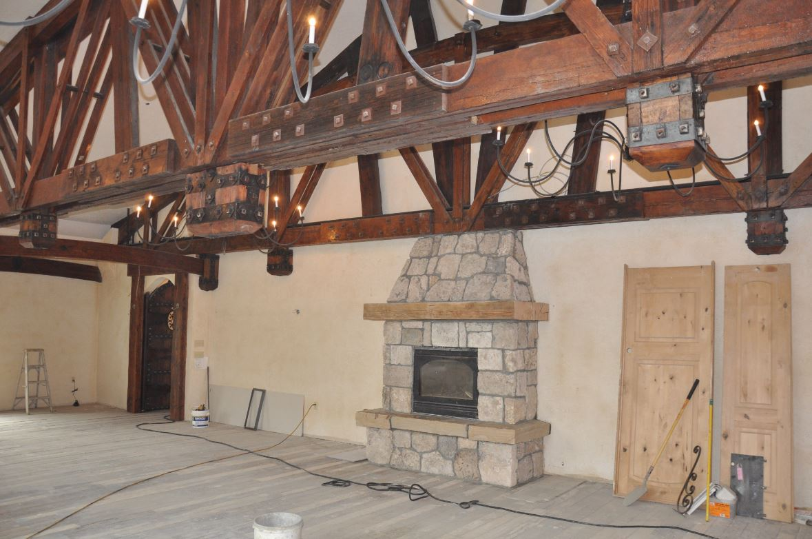 Castle Upper Room Fireplace
