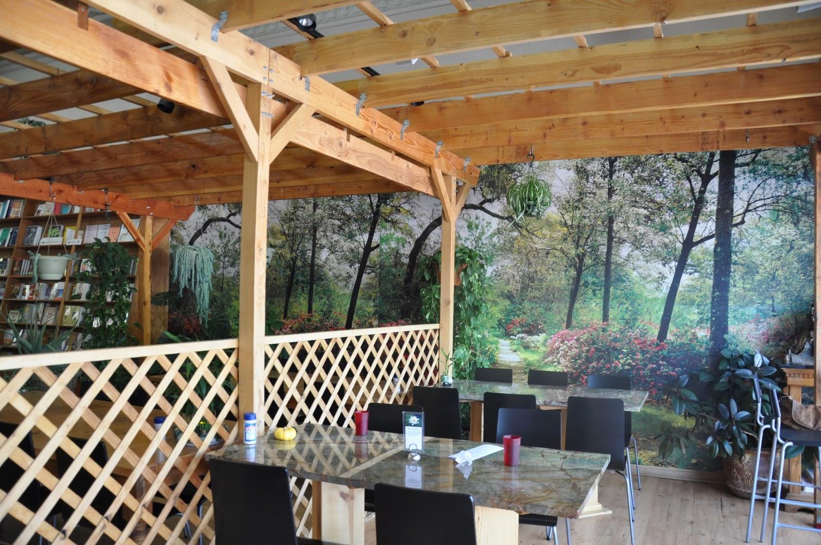 The interior of Ginger's Garden Cafe
