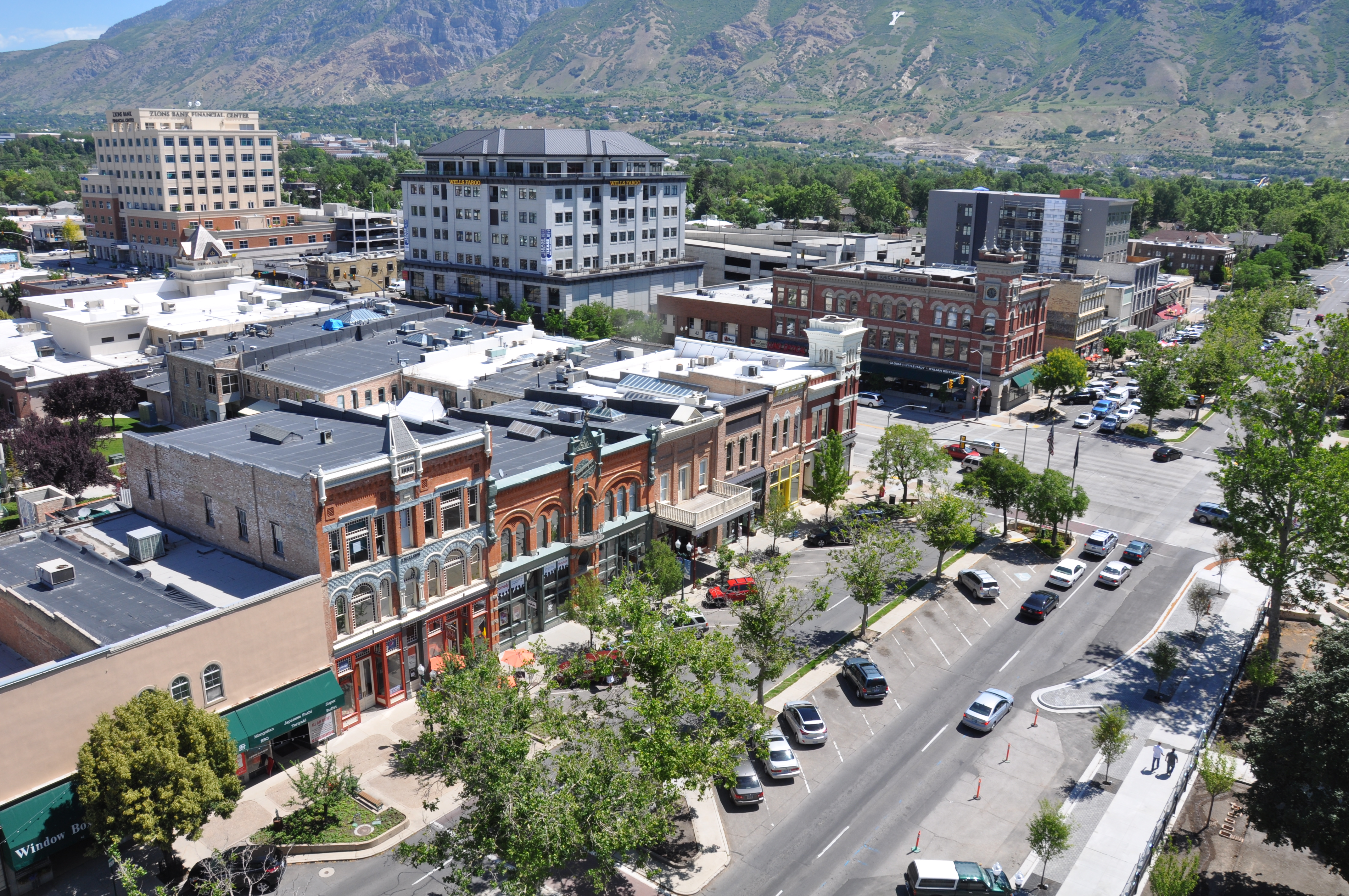 Downtown Provo aerial