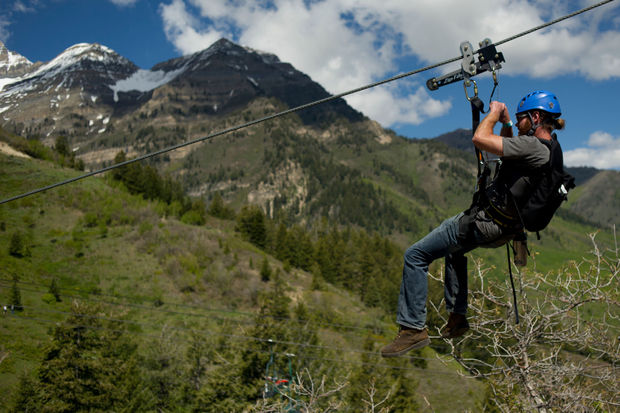 The zipline at Sundance