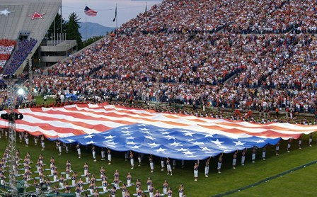The American flag at the Stadium of Fire