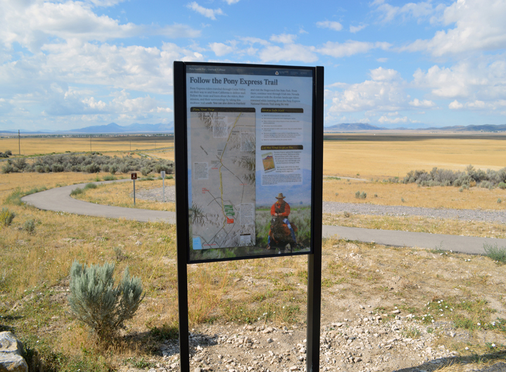 Sign at the Pony Express Trail