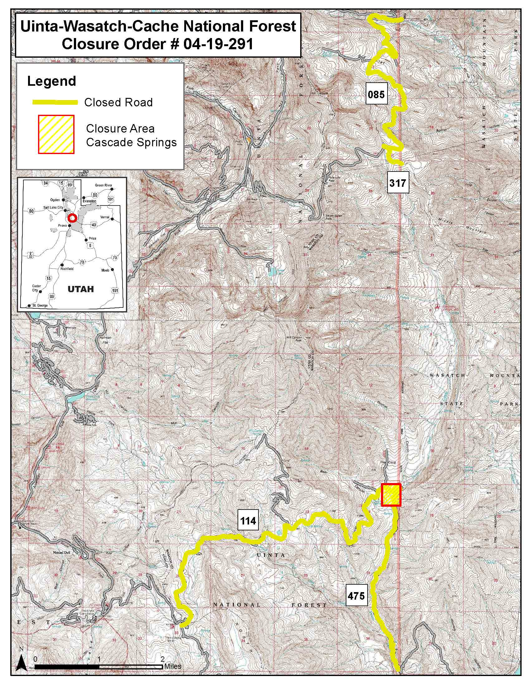 Cascade Springs Closure