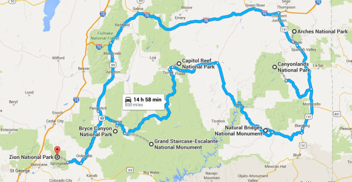 Ultimate Utah National Park Road Trip