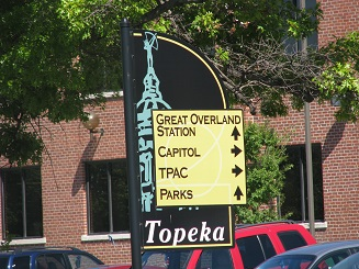 Topeka Wayfinding sign 1