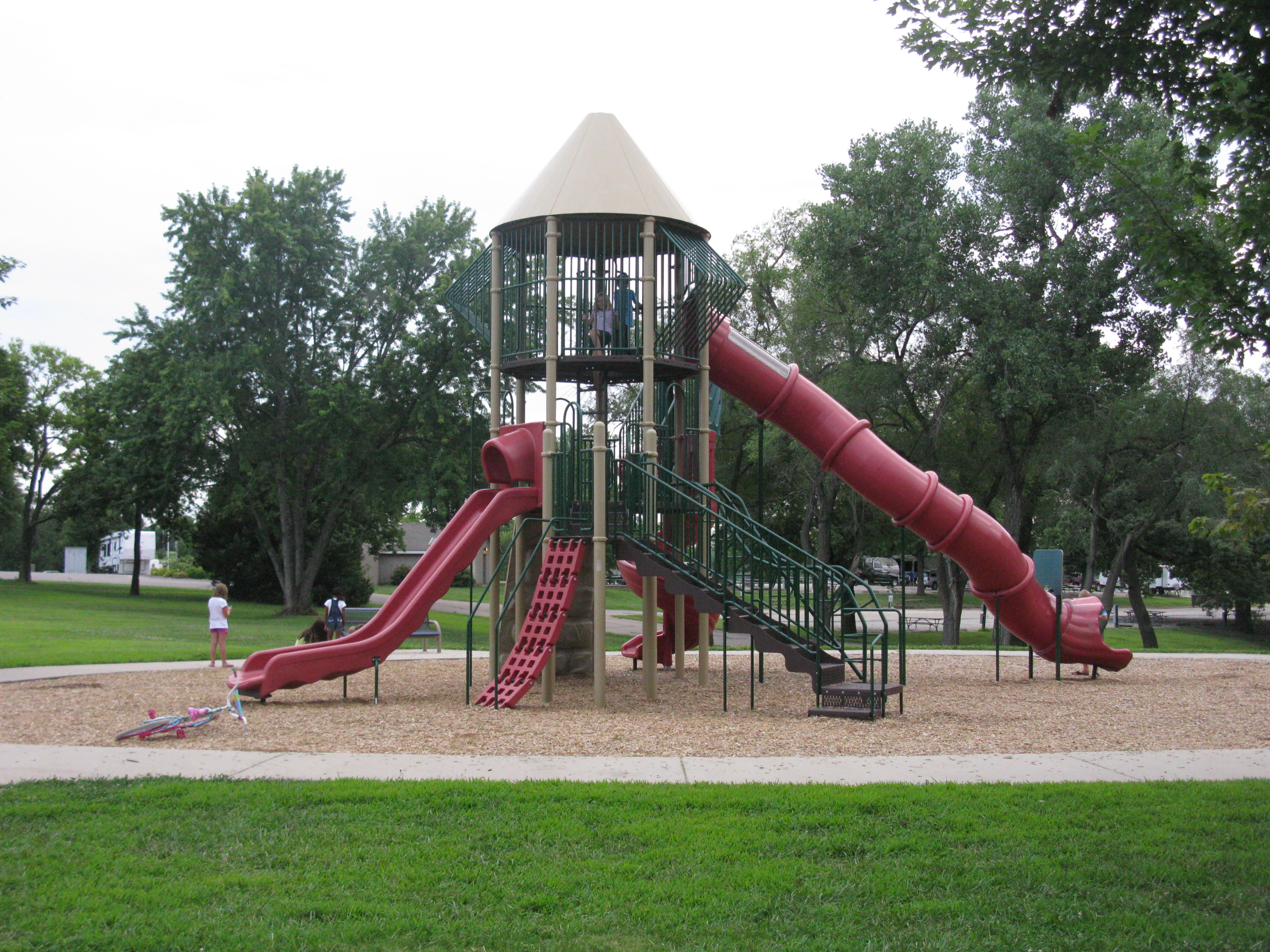 Playground at Lake Shawnee Campground - photo courtesy of Laura Fletcher
