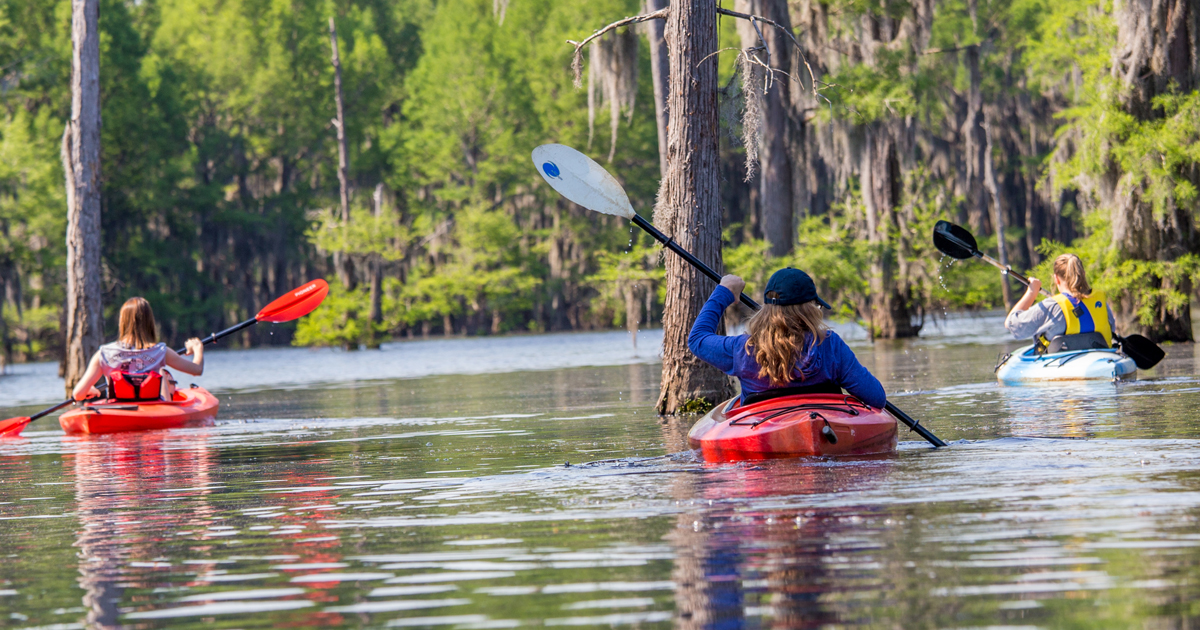 Natural beauty and outdoor activities abound in Shreveport