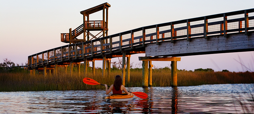 Kayaking in Big Lagoon State Park