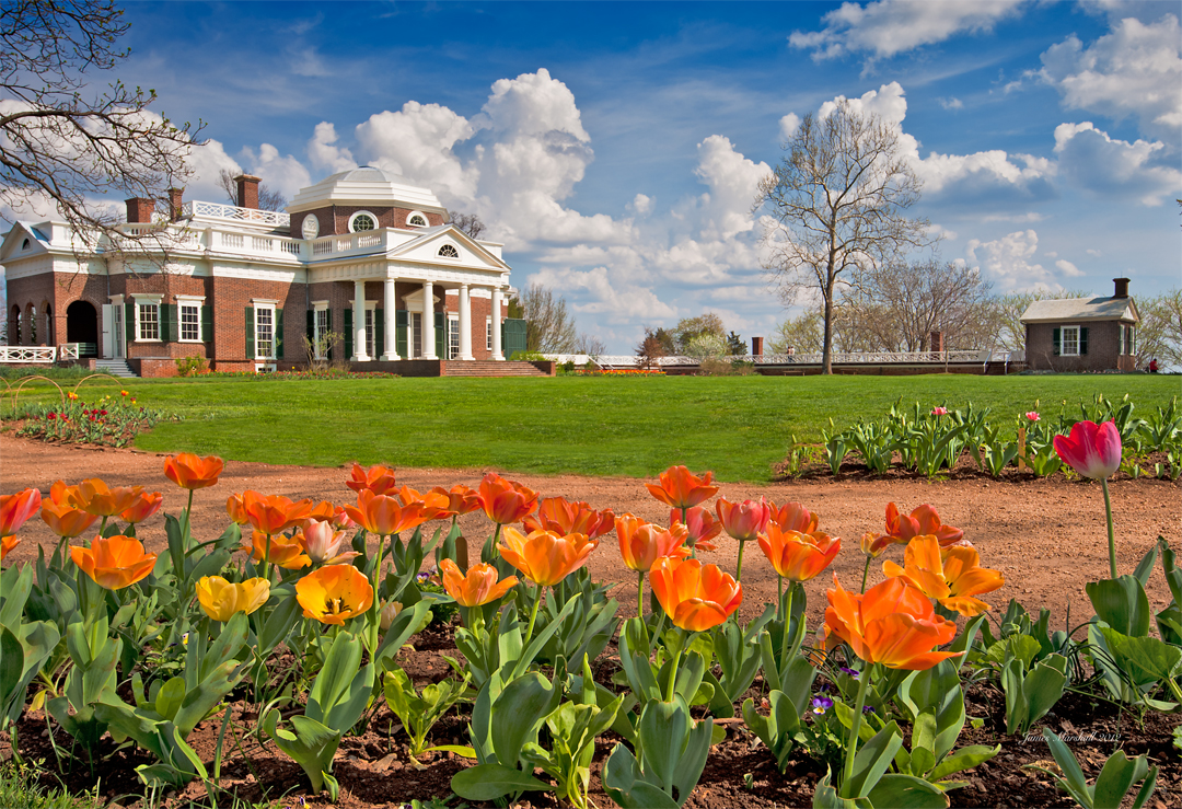 Monticello in the Spring (Photo by James Marshall)