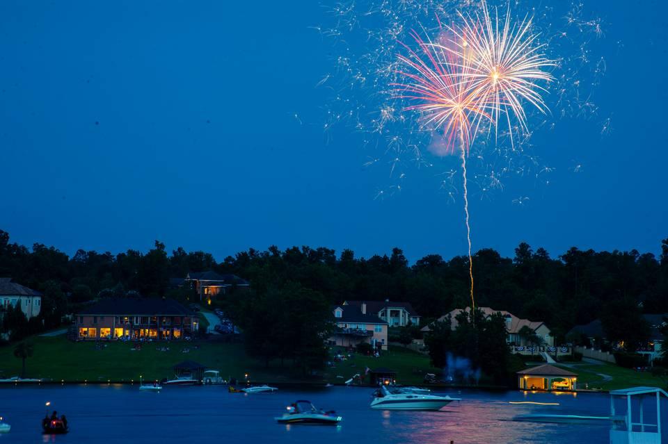 Fireworks at Lake Tobo