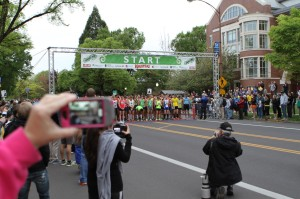 Eugene Marathon Start by Chris Langenberg