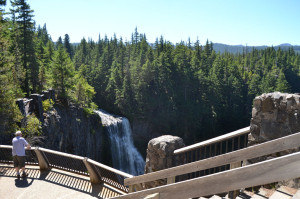 Salt Creek Falls from the observation deck