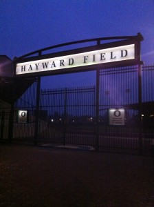 Hayward Field before the sun came up