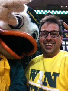A selfie with the Oregon Duck